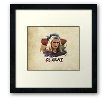 Clarke - The 100 - Brush Framed Print