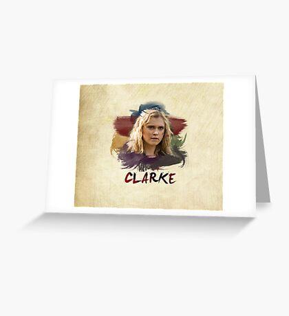 Clarke - The 100 - Brush Greeting Card