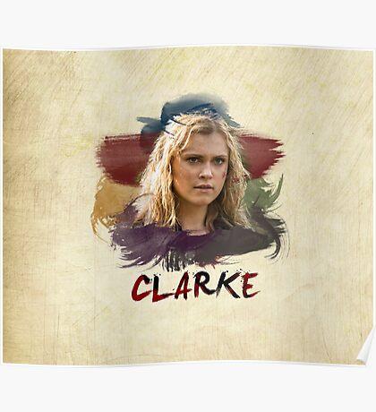Clarke - The 100 - Brush Poster