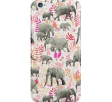 Sweet Elephants in Pink, Orange and Cream iPhone Case/Skin