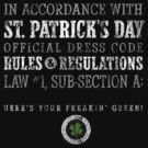 St. Patrick's Day Rules & Regs (vintage) by DesignSyndicate