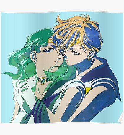 Sailor Neptune and sailor Uranus Poster
