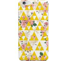 Yellow Floral Triangles  iPhone Case/Skin