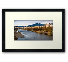 Panoramic view of Kamo River in Kyoto Framed Print
