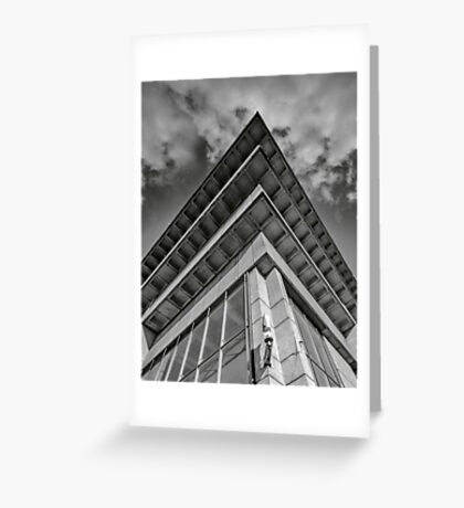 brutalist rooftop Greeting Card
