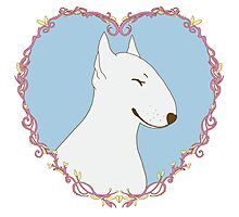 Love Bull Terrier - Pastel Photographic Print