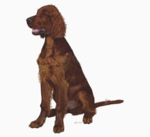 Irish Setter 'Waiting for his Master' One Piece - Short Sleeve