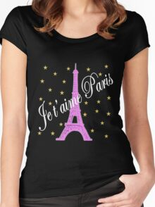 JE T'AIME PARIS FOREVER Women's Fitted Scoop T-Shirt