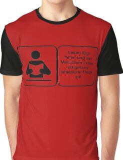 Vector Warnung Deutsch Lesen Freude Graphic T-Shirt