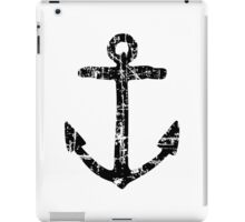 Anchor Vintage Black iPad Case/Skin
