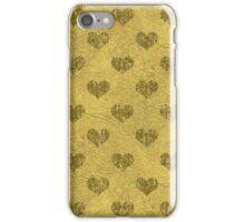 Faux Gold Foil Hearts iPhone Case/Skin