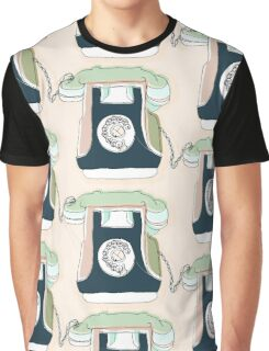 Retro Telephone Graphic T-Shirt