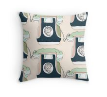 Retro Telephone Throw Pillow