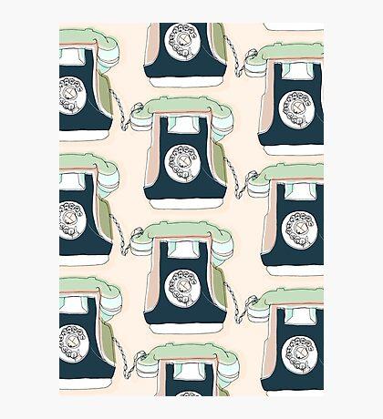 Retro Telephone Photographic Print