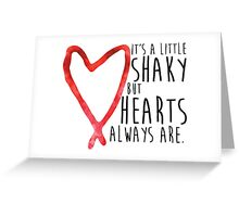 Shaky Hearts - Black Text Greeting Card