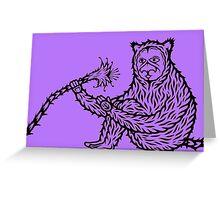 Strange apes 1 Greeting Card