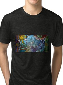 Hogwarts stained glass style Tri-blend T-Shirt