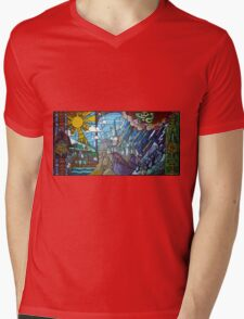 Hogwarts stained glass style Mens V-Neck T-Shirt