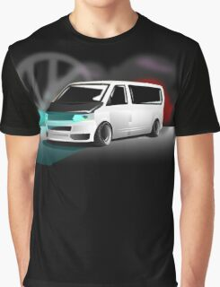 White T5 Stanced VW Graphic T-Shirt