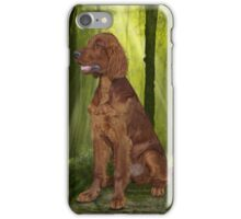 Irish Setter 'Waiting for his Master' iPhone Case/Skin