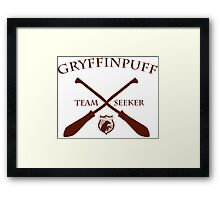 Gryffinpuff Seeker in red Framed Print