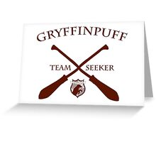 Gryffinpuff Seeker in red Greeting Card