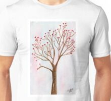 The tree of love. Watercolor painting art. Unisex T-Shirt