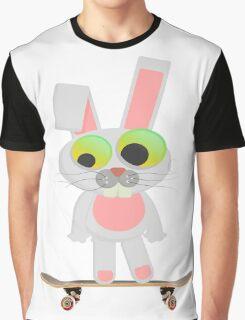 skateboarding cartoon rabbit  Graphic T-Shirt