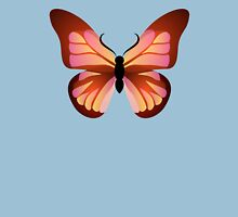 Orange and Pink Butterfly Graphic Womens Fitted T-Shirt
