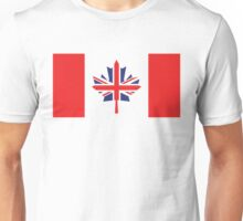 Canada / UK Flag Mix (Request) Unisex T-Shirt
