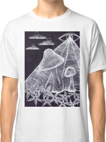 Trippy Eye Mushrooms Classic T-Shirt