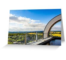 Atop the Falkirk Wheel Landscape Greeting Card