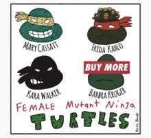 Female Mutant Ninja Turtles Kids Tee