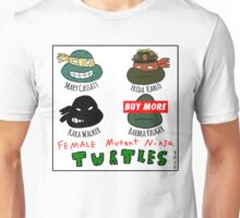 Female Mutant Ninja Turtles Unisex T-Shirt