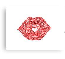 Red kiss Canvas Print