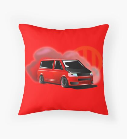 Red T5 with Smoke Throw Pillow