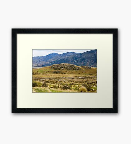 Mt Sunday - Site of Edoras 'Lord of the Rings' Framed Print