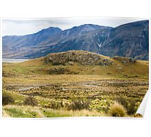 Mt Sunday - Site of Edoras 'Lord of the Rings' Poster