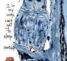 Barred Owl with Haiku by dosankodebbie
