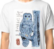 Barred Owl with Haiku Classic T-Shirt