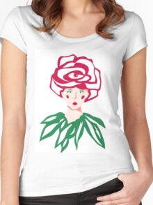 little rose Women's Fitted Scoop T-Shirt
