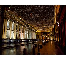 Royal Exchange Square at Christmas Photographic Print