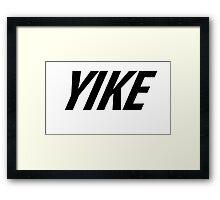 Yike, Nike parody. Framed Print