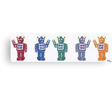 Retro Robot Parade Canvas Print