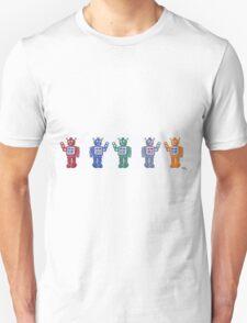 Retro Robot Parade Unisex T-Shirt