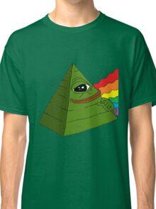 Pyramid Pepe Frog Classic T-Shirt