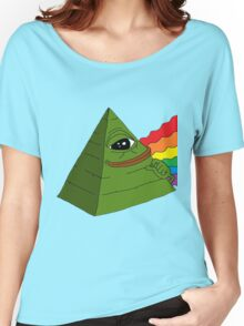 Pyramid Pepe Frog Women's Relaxed Fit T-Shirt