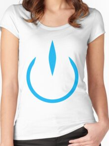 The Power of Cyan Women's Fitted Scoop T-Shirt