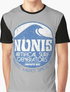 Nunis Wave Machine Co - Distressed Graphic T-Shirt