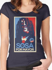 Chief Keef for mayor Women's Fitted Scoop T-Shirt